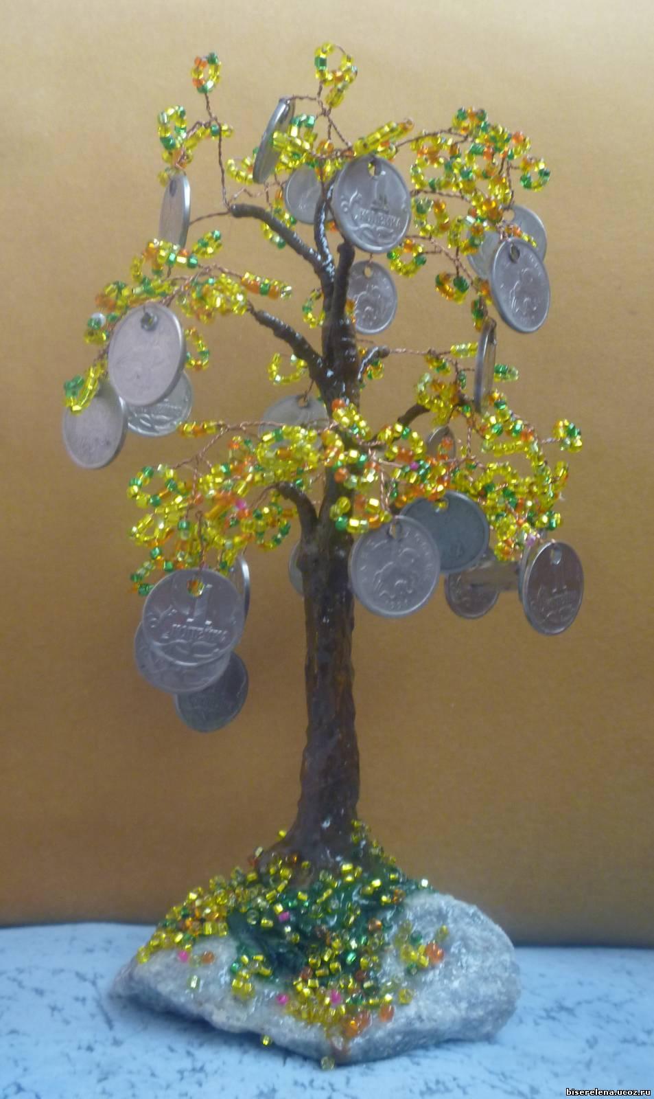Денежное дерево из бисера: мастер-класс с пошаговыми 24