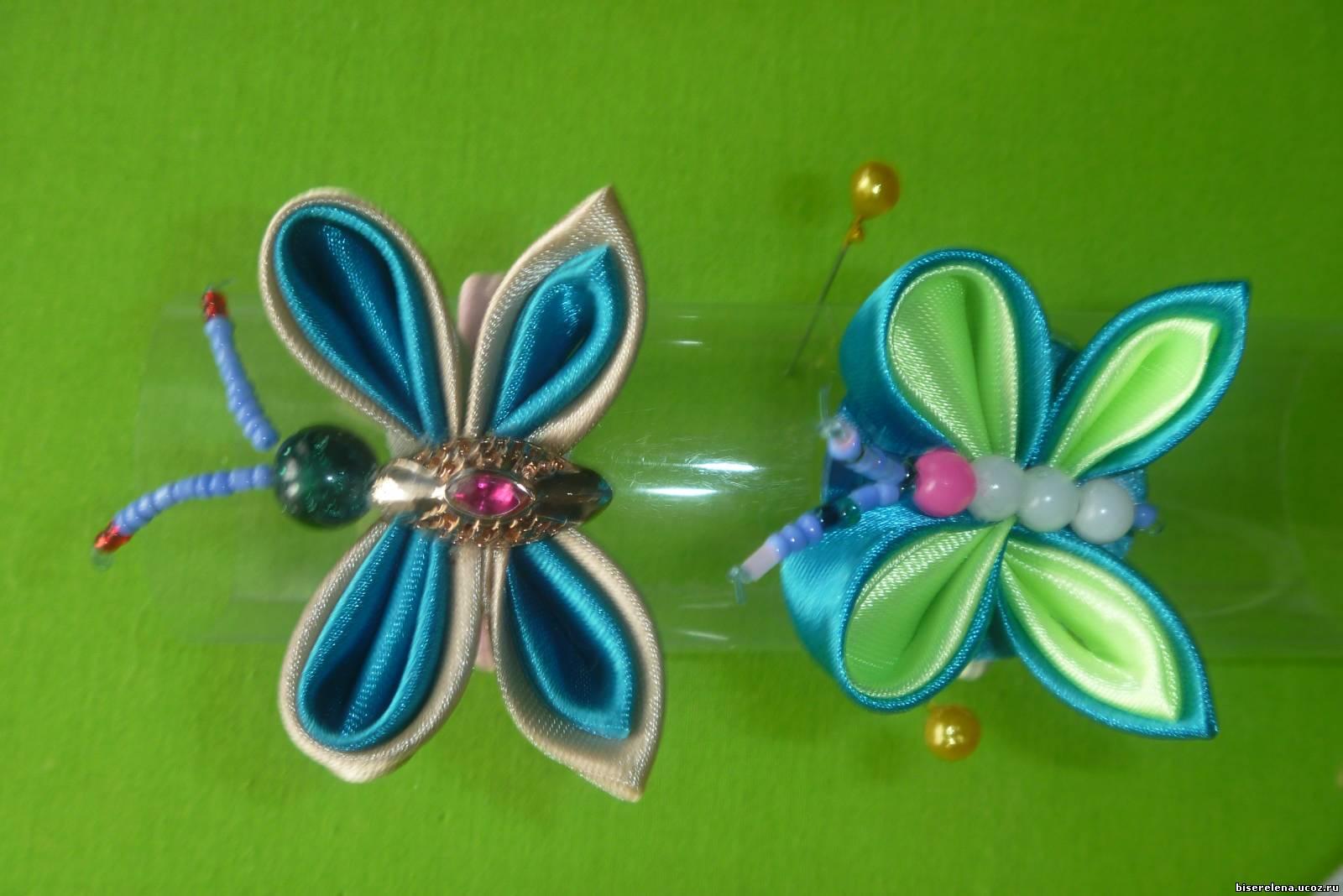 Бабочка из атласных лент своими руками фото 383